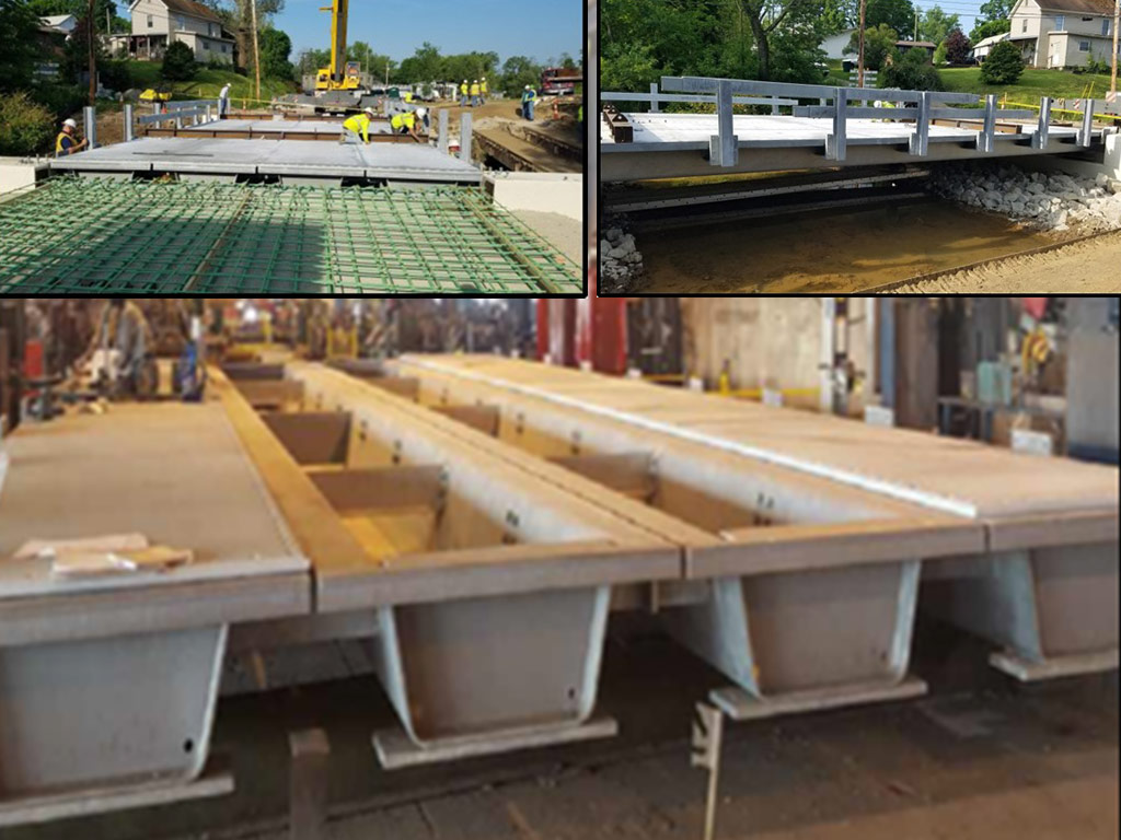 Short span bridge tub girders