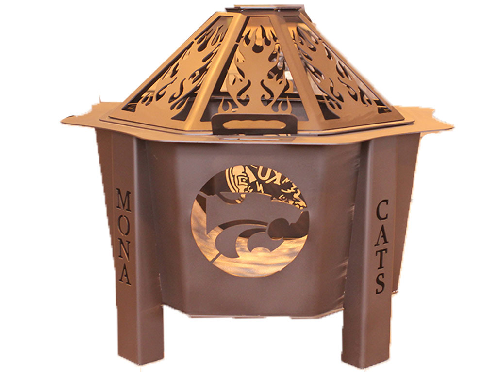 KSU Wildcat steel fire pit made in USA