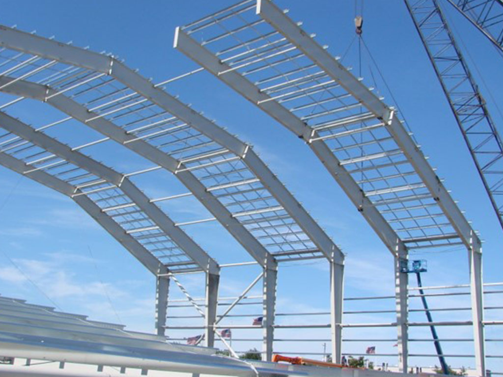 large structural steel for football practice facility